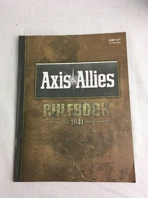 Axis & Allies 1941 Board Game  Rule book Spares