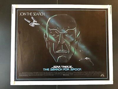 "Star Trek III The Search for Spock Original Movie Poster 1984 - 28""x 22"" EX"