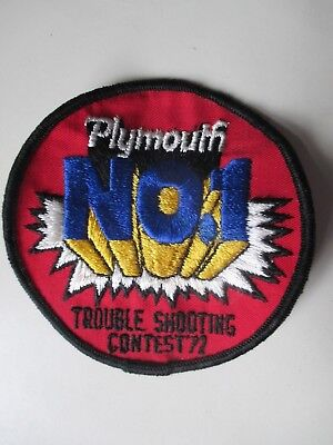 PLYMOUTH  trouble shooting contest 1972  * sew on patch