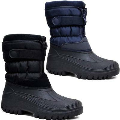 Mens Ladies Snow Boots Winter Waterproof Mucker Thermal Wellingtons Fur Boots