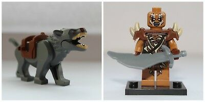 Lord Of The Rings The Hobbit Warg & Gundabad Orc Mini Figures use with lego
