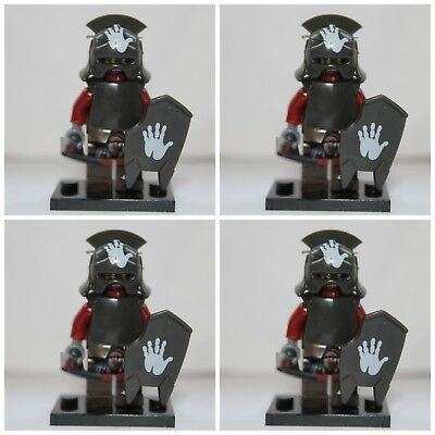 Lord Of The Rings The Hobbit Uruk Hai Soldier Orc Mini Figures use with lego 3
