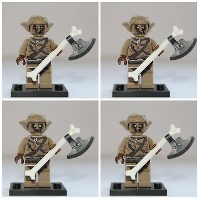 Lord Of The Rings The Hobbit Goblin Soldiers Mini Figures use with lego 3