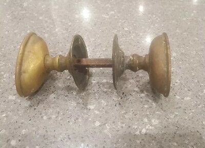 Vintage Pair Of Brass Door Knobs