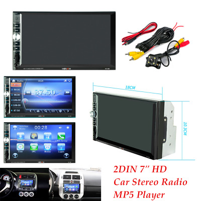 "DC12V 2DIN 7"" HD Car Stereo Radio MP5 Player Bluetooth Touch Screen&Rear Camera"