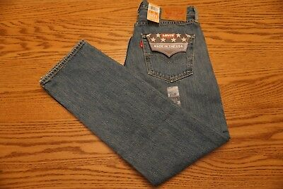 NWT MEN'S LEVI JEANS 501 Straight Leg Button Fly White Oak Cone - Made in USA