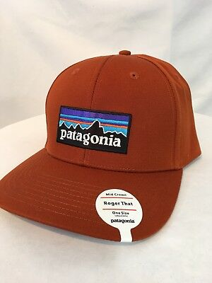bfb7e1dcb29 Patagonia Men s P-6 Logo Roger That Trucker Hat Mid Crown Copper Ore Snap  Nwt