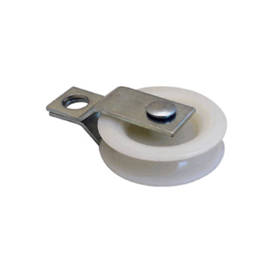 """1-3/4"""" Plastic Pulley With Zinc Plated Split Bracket - Used w/Up To 5/16"""" Cable"""