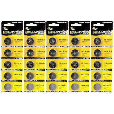 5x 5pk 3V Lithium Coin Cell Battery CR2025 Replaces BR2025-1W FAST USA SHIP