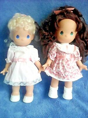 "Lot Of 2 Precious Moments 10"" Vinyl Dolls"