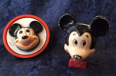 Pair of Vintage 70s Mickey Mouse Nightlights One Works