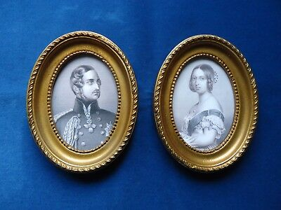 Pair  Of  Printed  Portraits  Of  Victoria  And  Albert
