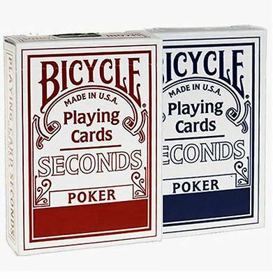 2 X Bicycle Seconds Playing Cards Decks Standard Index  Red & Blue Two
