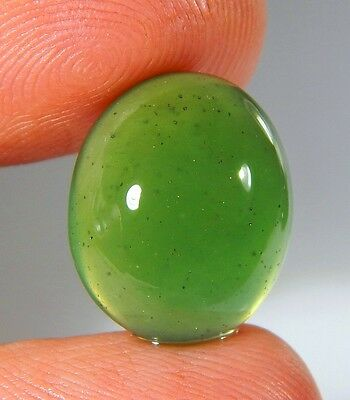 09 Ct Natural Ring Size Deep Green Serpentine  Jade Oval Cabochon  Gemstone A174