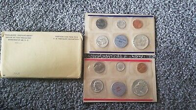 1959 U.s. Mint 10 Coin Uncirculated Set In Original Government Packaging! #1