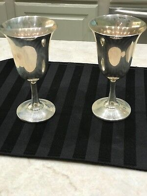 2 Sterling Wallace Goblets, #14