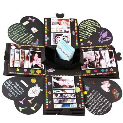 Novelty Surprise Explosion Box DIY Memory Scrapbook Photo Album Valentine's Gift