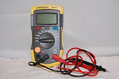 Newcason XC6013L LCD Digital Capacitance Meter Capacitor with Cables