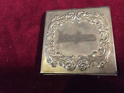 Rare Vintage Neiman Marcus Silver Plated Compact Mirror & Magnifier
