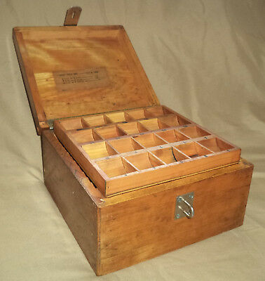 Antique Wooden Dovetailed Special Purpose Document Money Box Use Display Restore