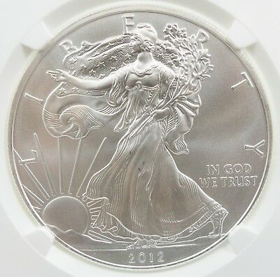 2012 S American Silver Eagle ASE 1 oz S$1 NGC MS 69 50 Boxes First Releases C449