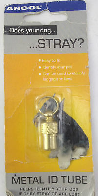 Ancol Metal ID Tube - Identify Your Pet