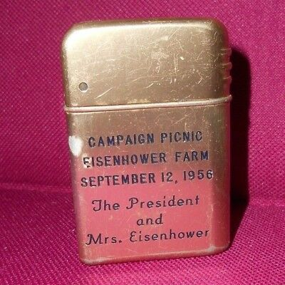 Rare President Eisenhower Personal Gift Lighter SEPTEMBER 12, 1956