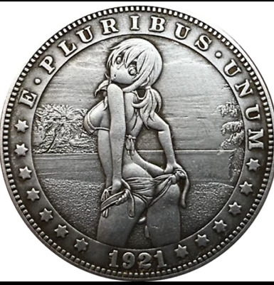 COIN Sexy woman- Hobo Nickel 1921  sexy behind woman