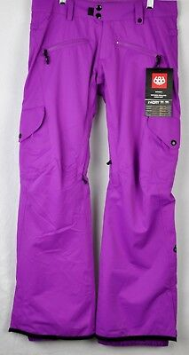 2ac498ed 686 Womens Mistress Insulated Ski Cargo Pants L8W412 Violet Size Extra Small
