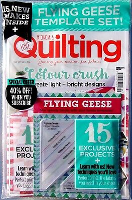 Love Patchwork & Quilting Magazine #69 - 2019 ~ New Sealed Pack With Gifts ~