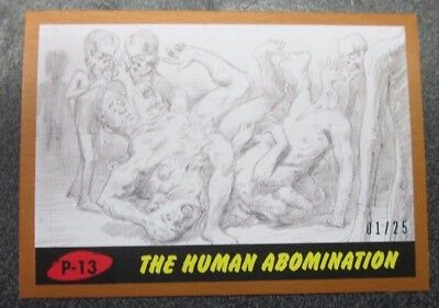 2017 Topps Mars Attacks The Revenge Bronze Parallel P-13 Human Abomination 01/25