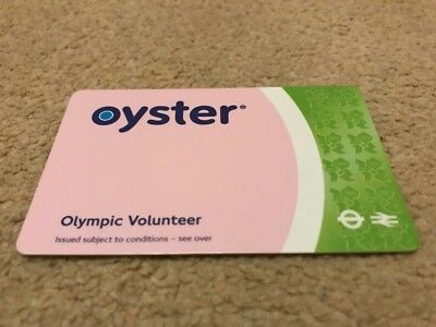 Very Rare Official London 2012 Olympic Games Green Olympic Volunteer Oyster Card