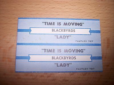 "2 Blackbyrds Time Is Moving / Lady Jukebox Title Strips 7"" 45RPM Records"