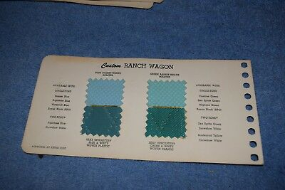 1955 Ford  Ranch Wagon  Dealer Book Upholstery Page ORIGINAL