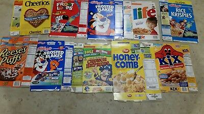 Lot 10 CEREAL box 2002 2003 2004