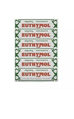 6 x Euthymol Original Toothpaste 75ml BUY FROM A WHOLESALER Exp June 2020