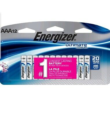 Energizer Ultimate Lithium AAA Batteries 12 Pack