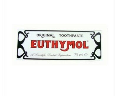 2 x Euthymol Original Toothpaste 75ml BUY FROM A WHOLESALER Exp June 2020