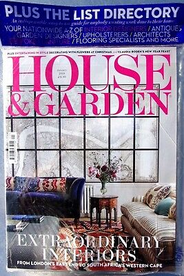 House & Garden Magazine January 2019 With The List Directory 2019 ~ New ~