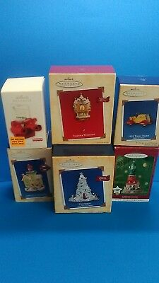 HALLMARK KEEPSAKE ORNAMENTS Lot Of 6 w/Boxes Viewmaster,Winterfest And More