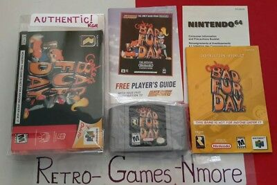 Conker's Bad Fur Day (Nintendo 64, 2001) N64, Complete, Authentic, Actual pict.