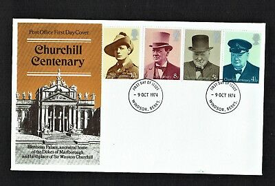 Gb Queen Elizabeth Ii Fdc - Churchill Centenary 1974