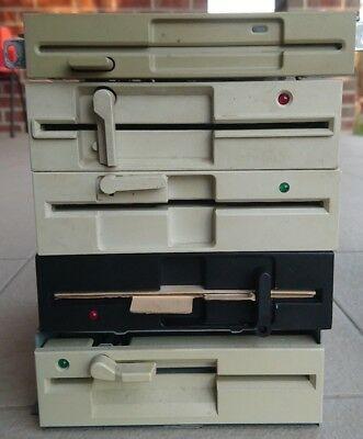 """Assorted 5.25"""" Floppy Disk Drive Canon Chinon Safronic YeData, 4 available"""