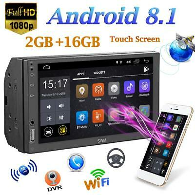 7inch 2Din Quad-core Android 8.1 Car Stereo MP5 Player GPS Navi WiFi FM AM Radio