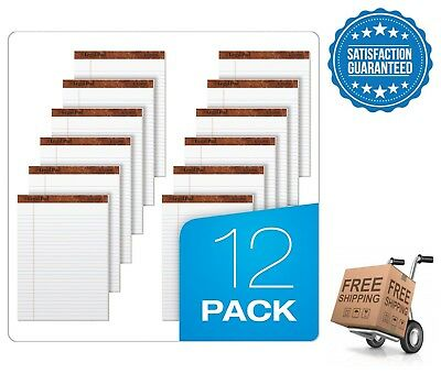 "TOPS 12-Pack Legal Rule Writing Pads 5"" x 8"" 50 Sheets Office Paper"