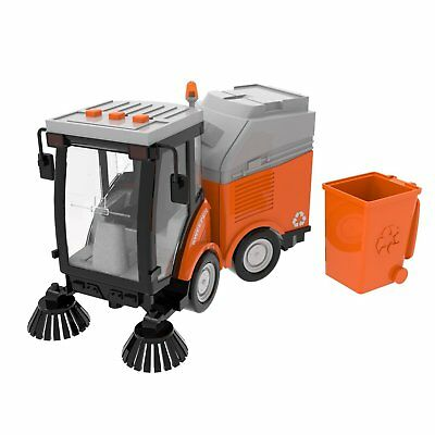 Street Sweeper Toy, Push and Go Friction Powered Truck Toys for Boys, Girls Simu