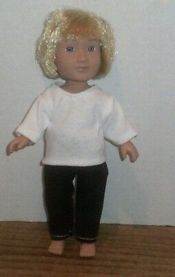 Doll Clothes-fit Mini American Girl Boy My Life-Top & Pants-Black/White