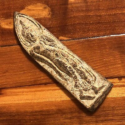 Thailand Siam Asian Buddhist Artifact Brass Amulet Artifact 1600's Antique Old 2