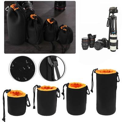S-XL Waterproof Soft Neoprene Camera Lens Pouch Bag Drawstring Protector Case