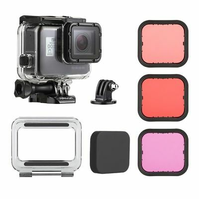 Underwater 45M Waterproof Housing Case Dive Filter Kit for GoPro Hero5 6 7 Black